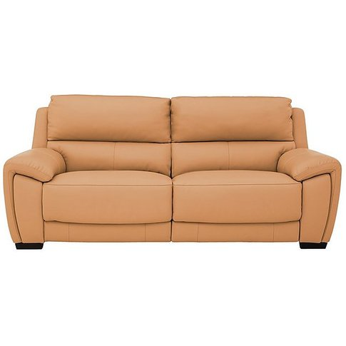 Relax Station Lazy 3 Seater Leather Power Recliner Sofa