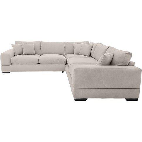 Pearl Cove Fabric Corner Sofa - Beige - By Furniture...