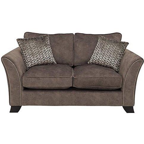 Amora 2 Seater Fabric Classic Back Sofa - Brown