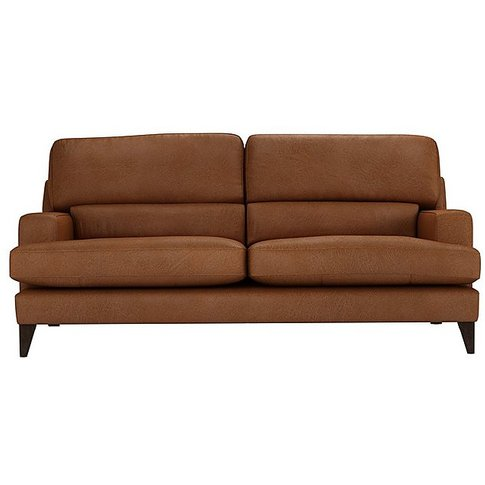 The Lounge Co. - Romilly 3 Seater Leather Sofa - Brown