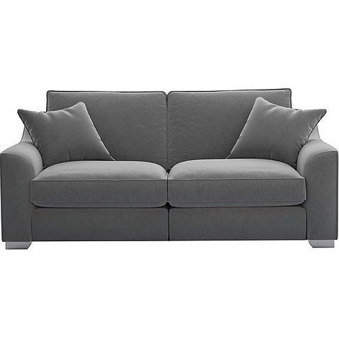 The Lounge Co. - Isobel 3 Seater Fabric Sofa - Grey