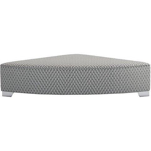 The Lounge Co. - Isobel Fabric Wedge Footstool - Grey