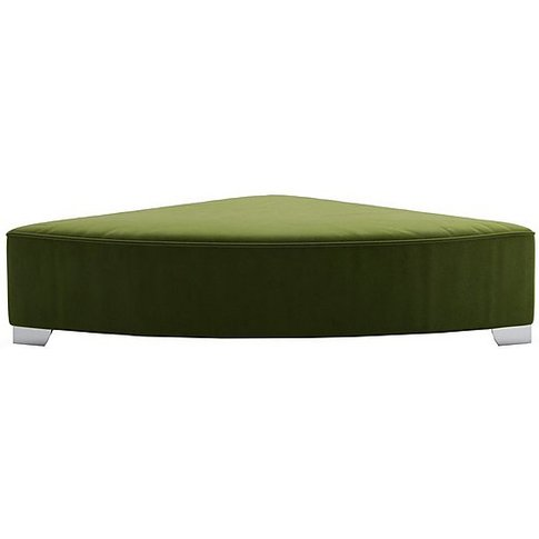 The Lounge Co. - Isobel Fabric Wedge Footstool - Green