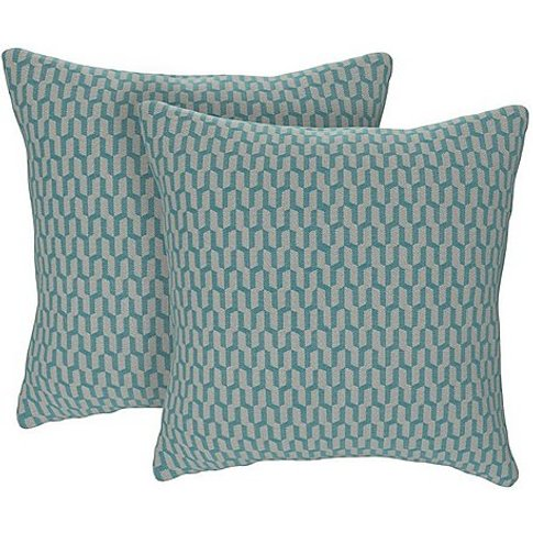 The Lounge Co. - Isobel Pair Of Small Cushions - Blue