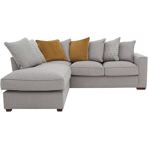 Comfi Fabric Pillow Back Corner Sofa With Chaise End...