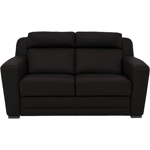 Nicoletti - Matera 2.5 Seater Leather Static Sofa With Box Arms - Black