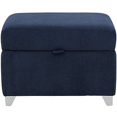 Lolly Fabric Storage Footstool - Blue