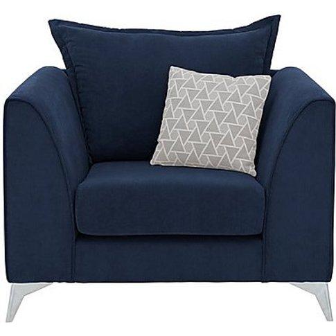 Lolly Fabric Armchair - Blue