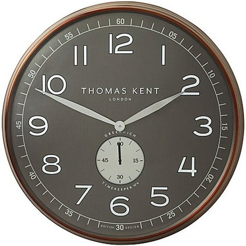 Greenwich Timekeeper Large Wall Clock - Bronze