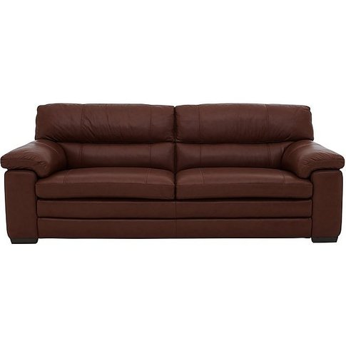 Cozee 3 Seater Pure Premium Leather Sofa - Brown- Wo...