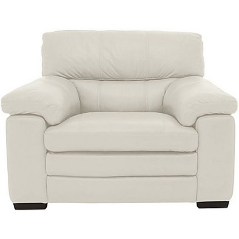 Cozee Leather Armchair - White- World Of Leather