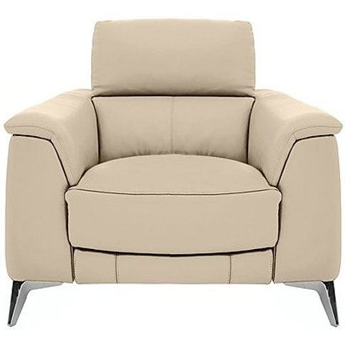 Odyssey Leather Recliner Armchair With Power Headres...