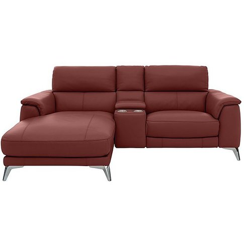 Odyssey Leather Recliner Chaise Sofa With Cupholders...