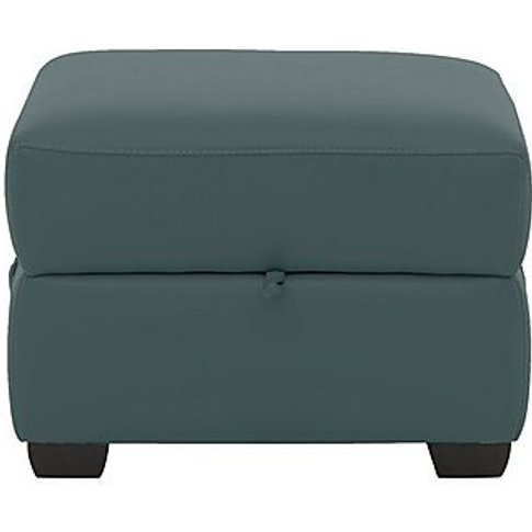 Missouri Leather Storage Footstool- World Of Leather