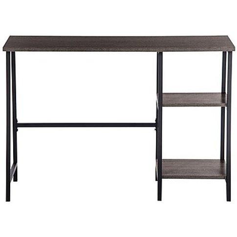 Asher Single Pedestal Desk - Brown