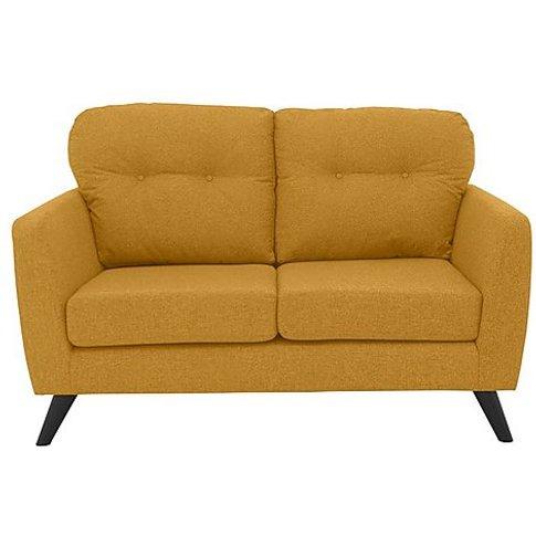 Bear Road 2 Seater Fabric Sofa - Yellow