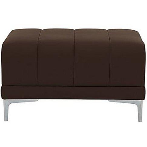 Nicoletti - Azzurro Leather Footstool - Brown