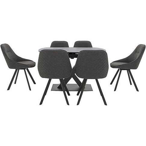 Arctic Extending Dining Table With Graphite Top And ...