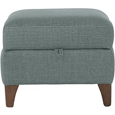 Marina Eco Fabric Storage Footstool - Blue