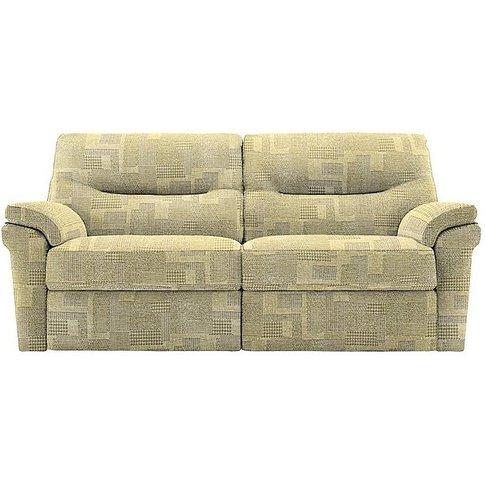 G Plan - Seattle 3 Seater Fabric Manual Recliner Sofa