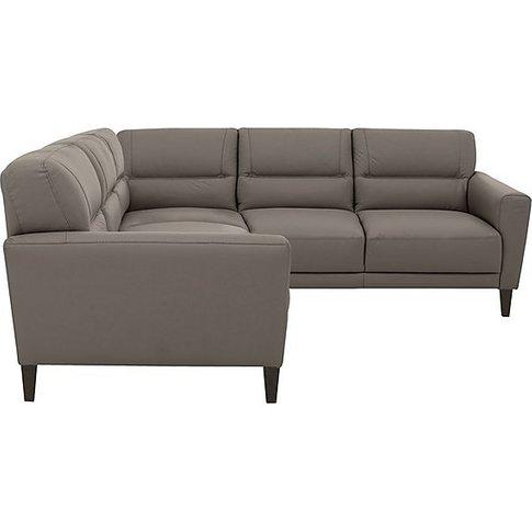 Versano Leather Corner Sofa - Grey