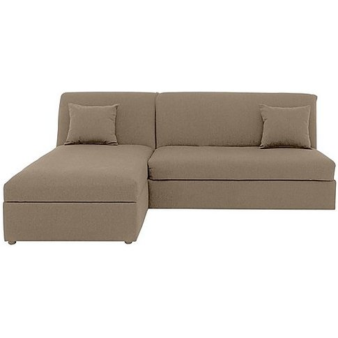 Versatile 2 Seater Fabric Chaise Sofa Bed With Stora...