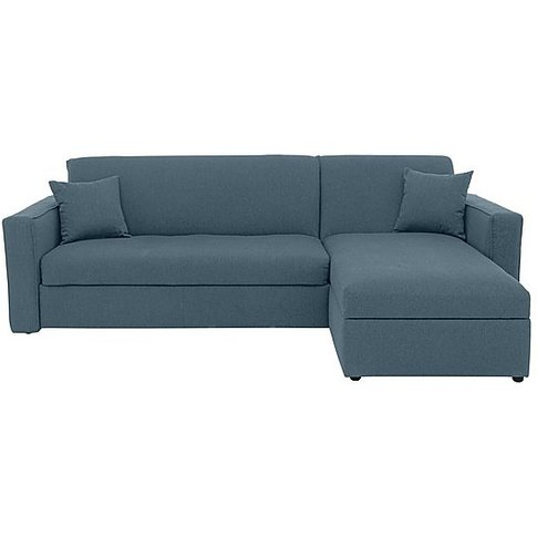 Versatile 2 Seater Fabric Chaise Sofa Bed With Box Arms