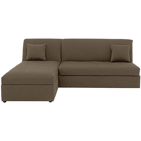 Versatile 2 Seater Fabric Chaise Sofa Bed No Arms - ...
