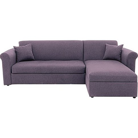 Versatile 2 Seater Fabric Chaise Sofa Bed With Scrol...