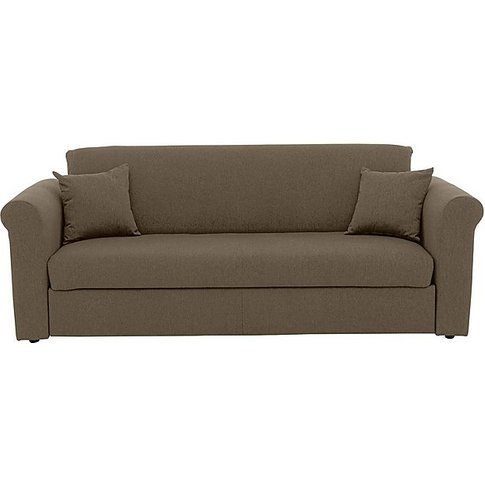 Versatile 3 Seater Fabric Sofa Bed With Scroll Arms ...