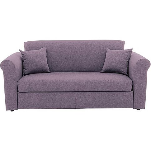 Versatile 2 Seater Fabric Sofa Bed With Scroll Arms ...