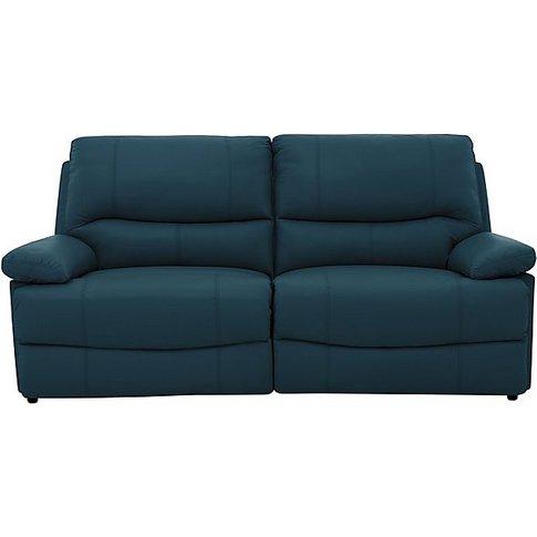 Dallas 3 Seater Leather Sofa - Blue