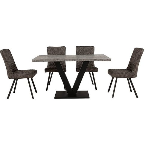 Rocket Dining Table And 4 Earth Chairs Dining Set