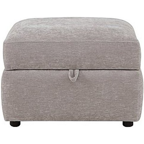 Rosie Fabric Storage Footstool - Grey