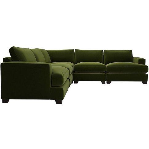 The Lounge Co. - Lorrie Large Fabric Corner Sofa - G...