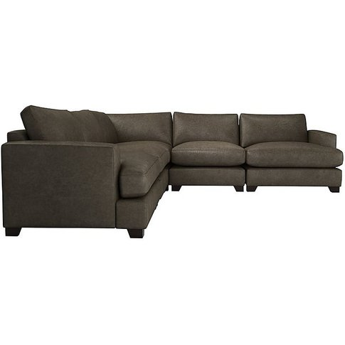 The Lounge Co. - Lorrie Large Leather Corner Sofa - ...