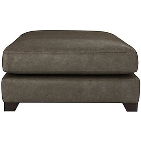 The Lounge Co. - Lorrie Leather Footstool - Brown
