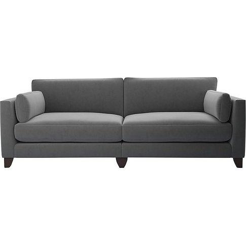 The Lounge Co. - Peyton 4 Seater Fabric Sofa - Grey