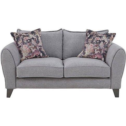 Fleur 2 Seater Fabric Sofa - Grey