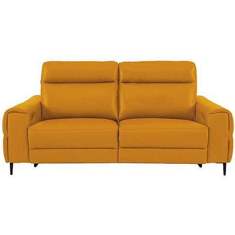 Anakin 3 Seater Leather Power Recliner Sofa With Pow...
