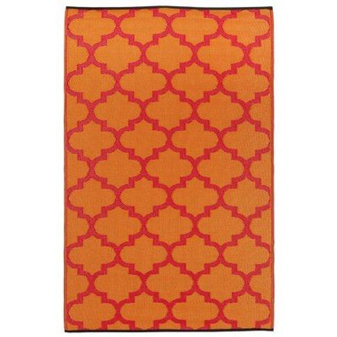 Moroccan Pink/Orange Outdoor Rug