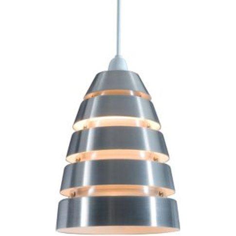 Colours Jet Cream Aluminium Cutaway Pendant Light Sh...