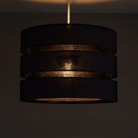 Colours Trio Black 3 Tier Light Shade (D)350mm