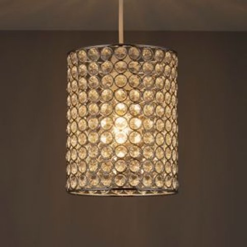 Colours Clear Crystal effect Beaded Light shade (D)1...