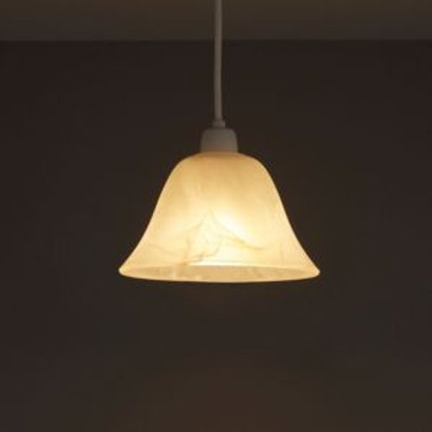 Colours Alabaster Dome Light Shade (D)175mm