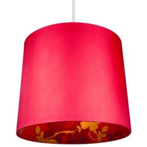 Colours Constance Red Linen Effect Inner Print Light Shade (D)300mm