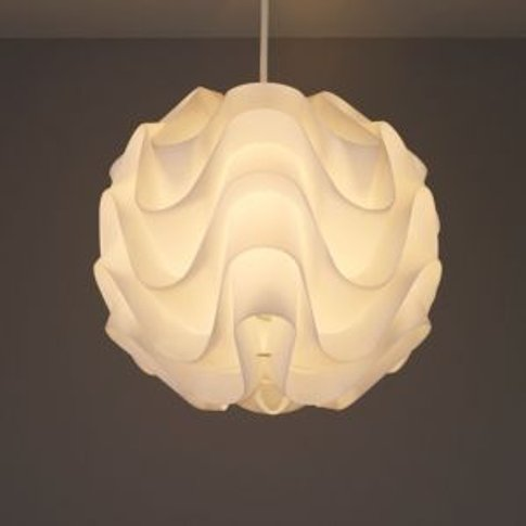 Colours Rosa Satin White Moulded Light Shade (D)300mm