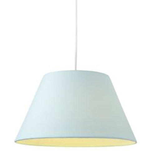 Colours Eos Duck Egg Linen Effect Tapered Drum Light...