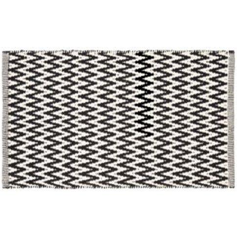 Colours Haillie Black & white Chevron Cotton Door ma...
