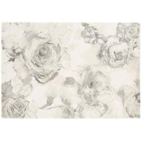 Colours Florelle Floral Grey Rug (L)1.7m (W)1.2m